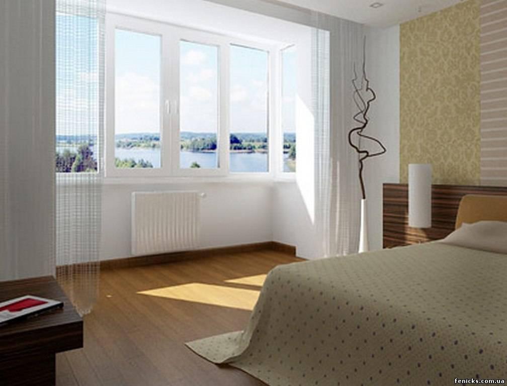 Дизайн маленької спальні з дверима на балкон. оформляємо роб.