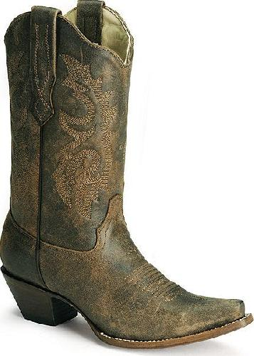 Corral Ladies Cowgirl Boots Distressed Naham Cowhide.