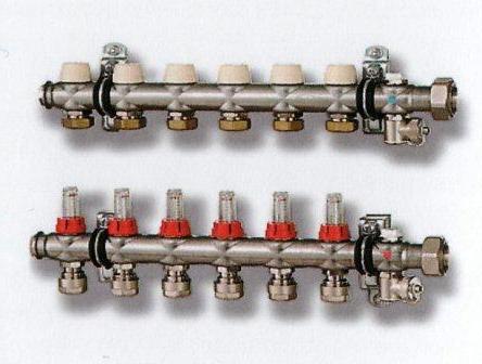 Коллектор x-net Kermi, для тёплого пола на 5 выходов.