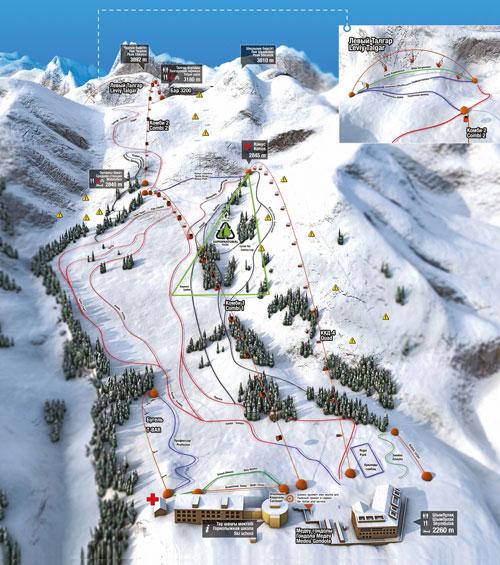 Карта склонов курорта Чимбулак