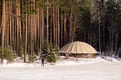 Курорт-репорт о долгожданных солнечных выходных в Охта-парке