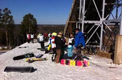 Золотая долина: прошли соревнования по сноуборду