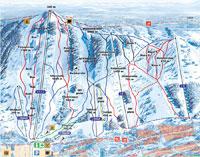 Горнолыжный курорт Пальякка Paljakka - Карта склонов