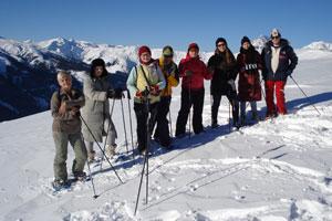 Покорители снегоступов…