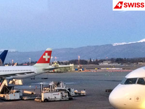 Лайнер А-319 швейцарской авиакомпании SWISS